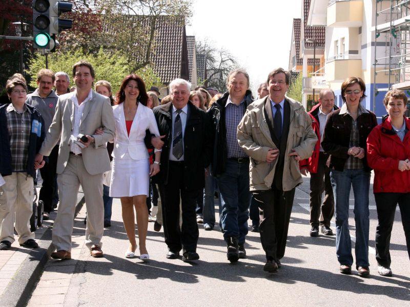 Eröffnung Wanderung Presse